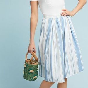 NWT ANTHROPOLOGIE About Town Striped Skirt #HH03